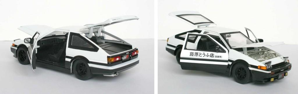 parties mobiles de la Toyota Trueno AE 86 d'initial D (die cast - ech 1/18)