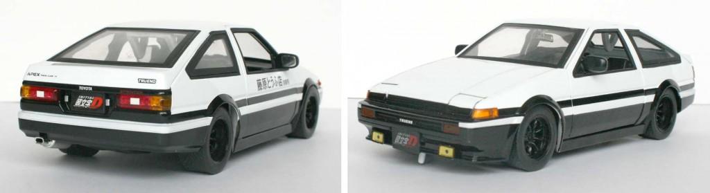 Initial D : Toyota Trueno AE 86 - ech 1/18 - die cats (Jada Toys)