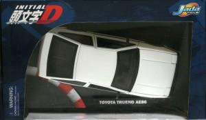Vue du dessus du packaging de la Toyota Trueno AE 86 - ech 1/18 (Initial D - Jada Toys)