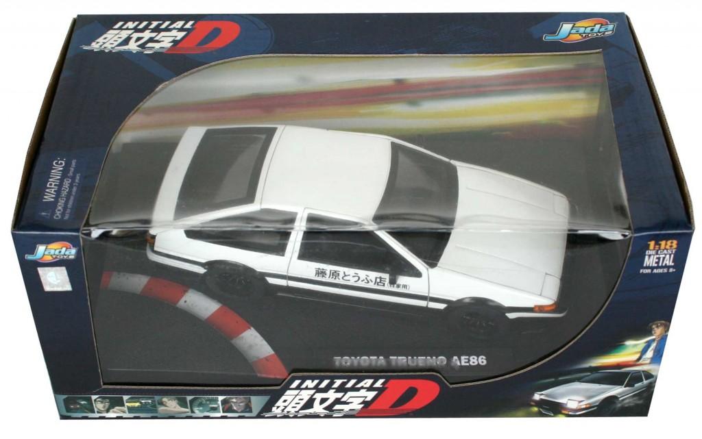 Packaging de la Toyota Trueno AE 86 - ech 1/18 (Initial D)