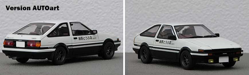 Initial D : Toyota Trueno AE 86 - ech 1/18 (AUTOart)