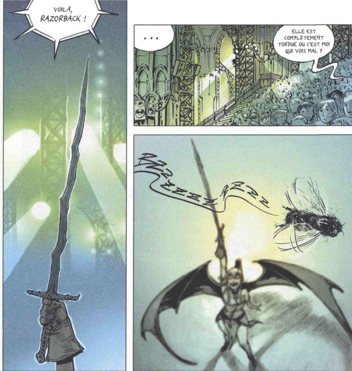 Razorback : l'épée de Chance dans Freaks' Squeele