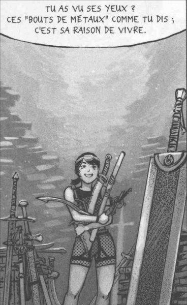 Xiong Mao trouve l'épée de Guts (Berserk) dans les archive de la F.E.A.H