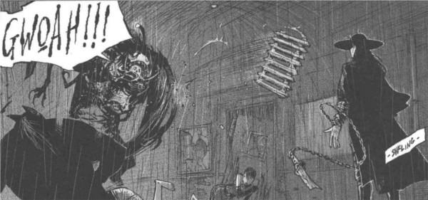 Funérailles se prépare à combattre un démon à la F.E.A.H.
