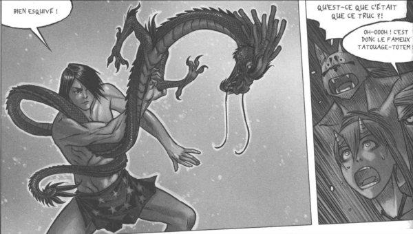 Fei Long doit sortir son tatouage dragon pour essayer de battre Xiong Mao