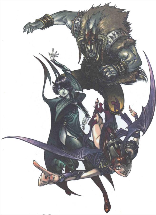 Illustration de l'auteur Florence Maudoux : Xiong Mao, Chance et Ombre dans leur tenue de méchants