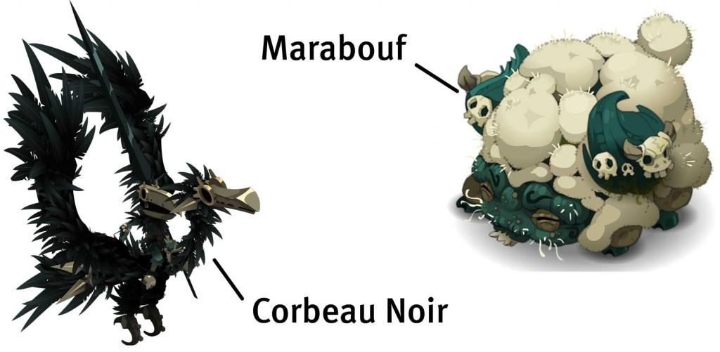 Corbeau Noir et Marabouf (Wakfu)