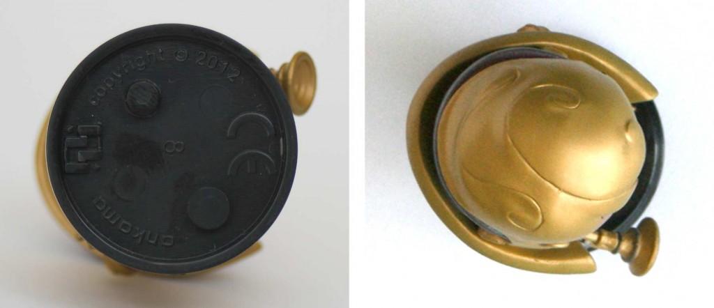 Vue de dessus et dessous de la figurine Krosmaster : Gaspard Fay le Steamer (Wakfu AFF 1.1)