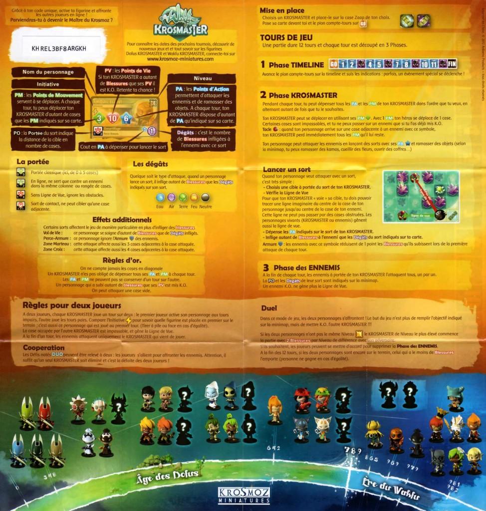 Règles du jeu pour le Mini plateau fourni avec la figurine Krosmaster - Gaspard Fay le Steamer