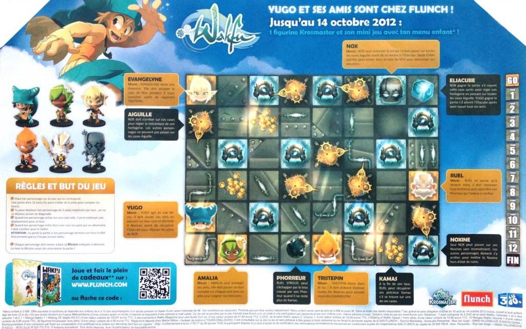 Le plateau de jeu Wakfu Krosmaster est imprimé sur un set de table Flunch