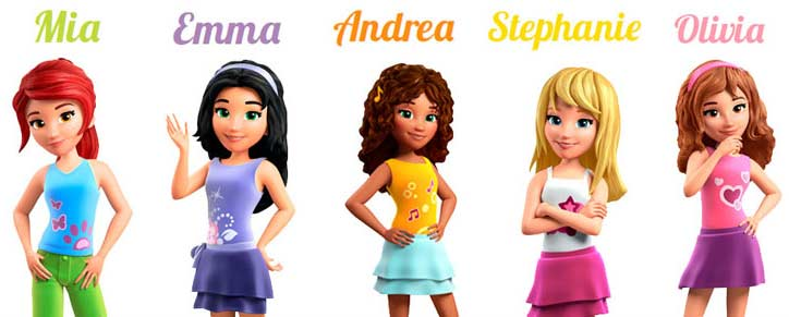 Lego Friends personnages