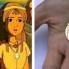 La taille du pendentif des citée d'or a été calculé à partir des capture du dessin animé
