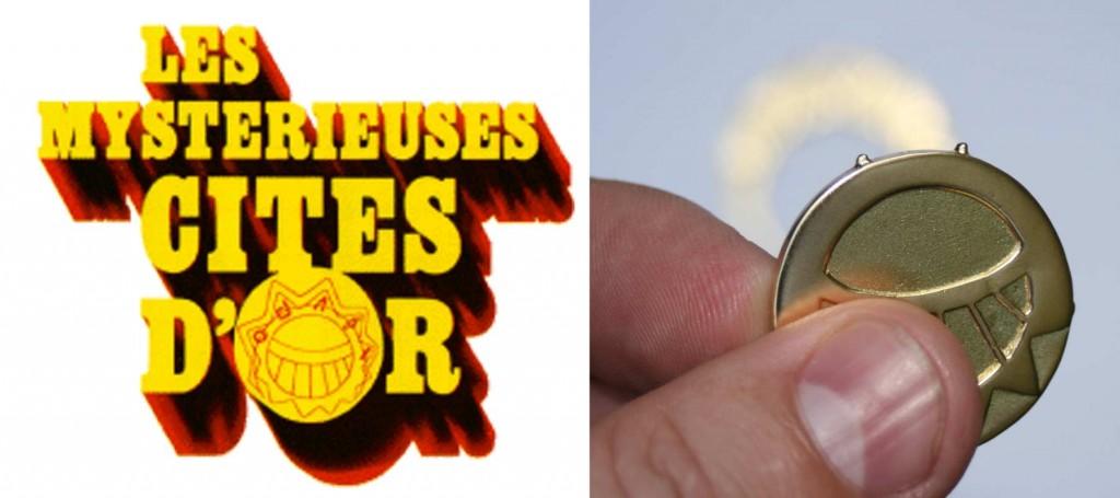 Pour le design, il a suffi de se baser sur le logo des citées d'or, pour l'emboîtage, il a fallu ajouter des picots