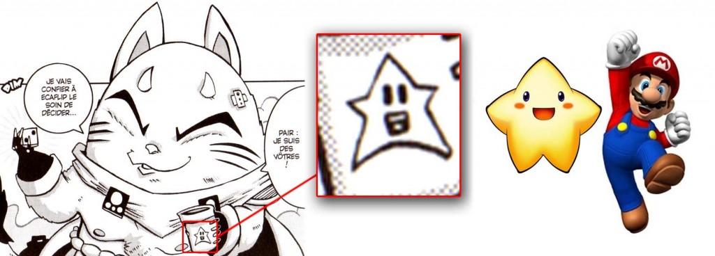 L'étoile est un clin d'œil à Stafy l'étoile tirée du jeu Super Smash Bros. Brawl