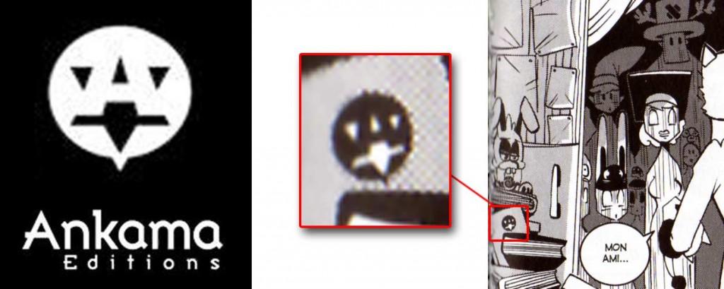 sur l'un des livres se trouve l'ancien logo d'Ankama Editions