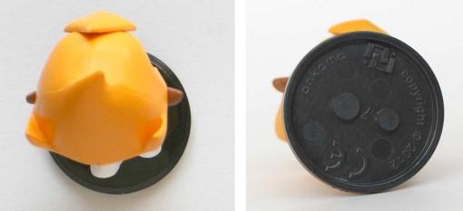 Vue de dessus et dessous de la figurine de Tristepin  (Krosmaster - Wakfu)