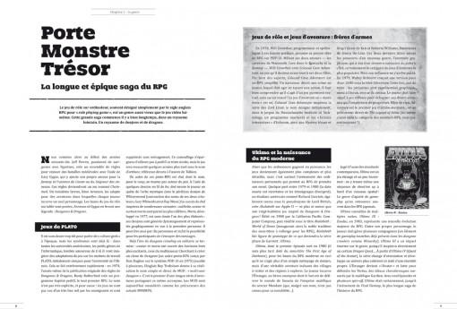 Une double page du IG magazine : du papier au pixel