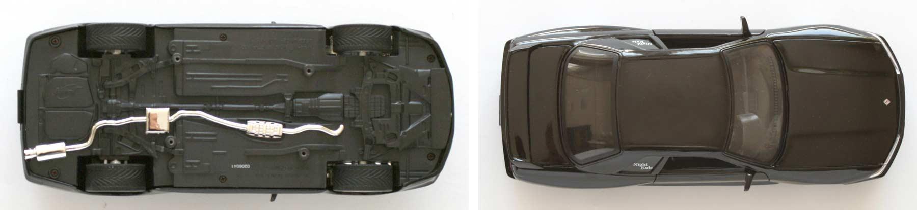 Vue de dessus et dessous de la Nissan GTR R32 (Initial D)
