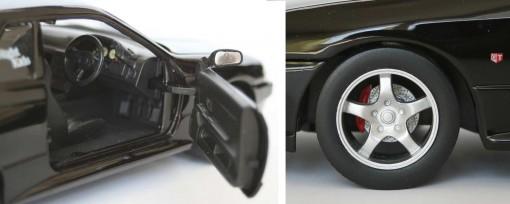 Les freins à disques sont présents, mais les roues ne tournent pas à droite ou à gauche