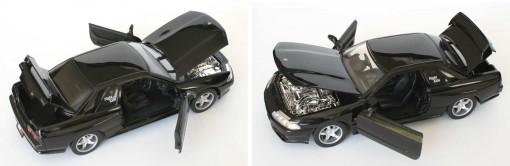 Le capot, le coffre et les portières de la Nissan GTR peuvent s'ouvrir