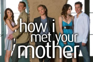 Image publicitaire How I met your mother avec les 5 personnages principaux