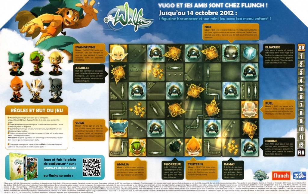 Plateau de jeu Krosmaster Wakfu disponible chez Flunch
