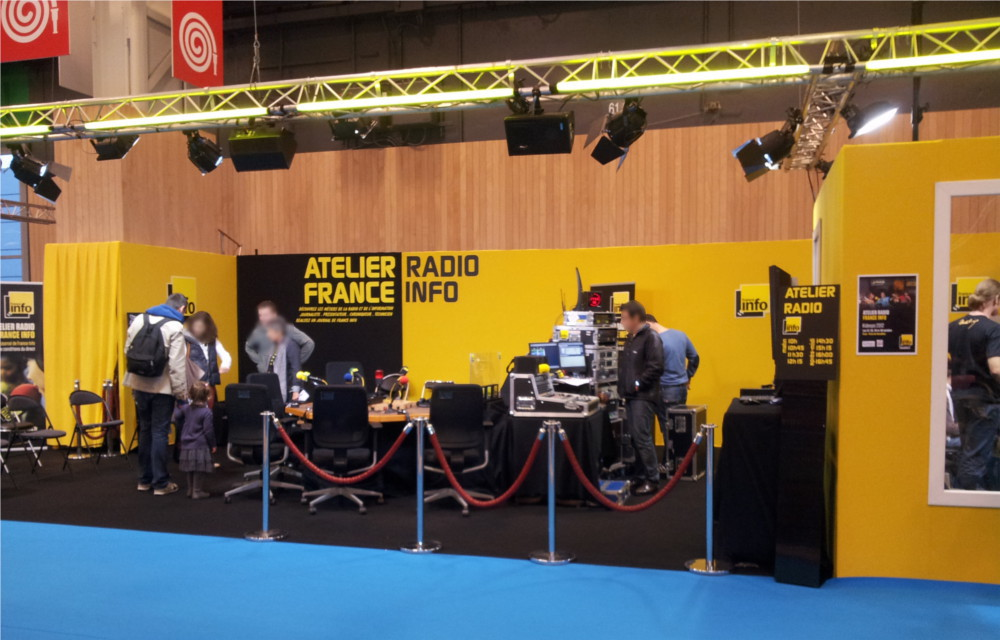 Stand France Info sur Kid Expo