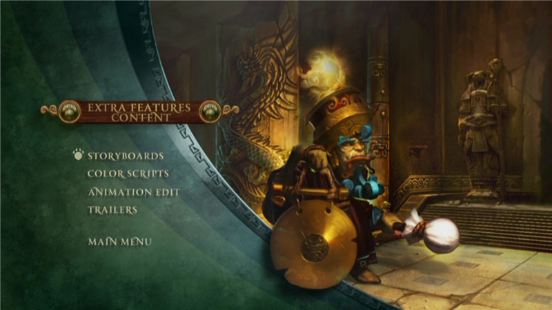 Menu Extra Feature content du making of Mists of Pandaria (World of Warcraft)