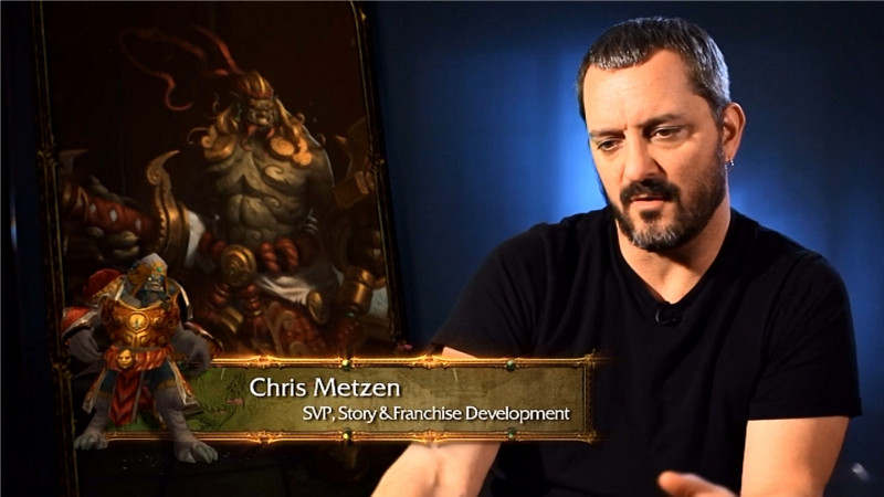 Chris Metzen dans le making of Mists of Pandaria (World of Warcraft)