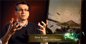 Dave Kosak dans le making of Mists of Pandaria (World of Warcraft)