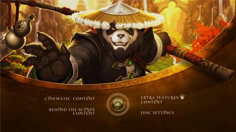 Menu général du making of Mists of Pandaria (World of Warcraft)