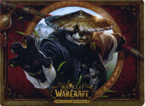 Tapis de souris avec Chen fourni avec le coffret collector de Mists of Pandaria (World of Warcraft)