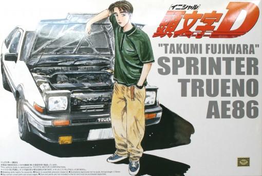 Packaging face de la maquette de la Toyota Trueno AE 86 d'Initial D - ech 1/24 (Aoshima)
