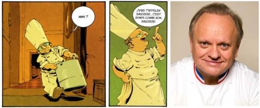 Le chef cuisinier que croise Grany est une caricature de Joël Robuchon