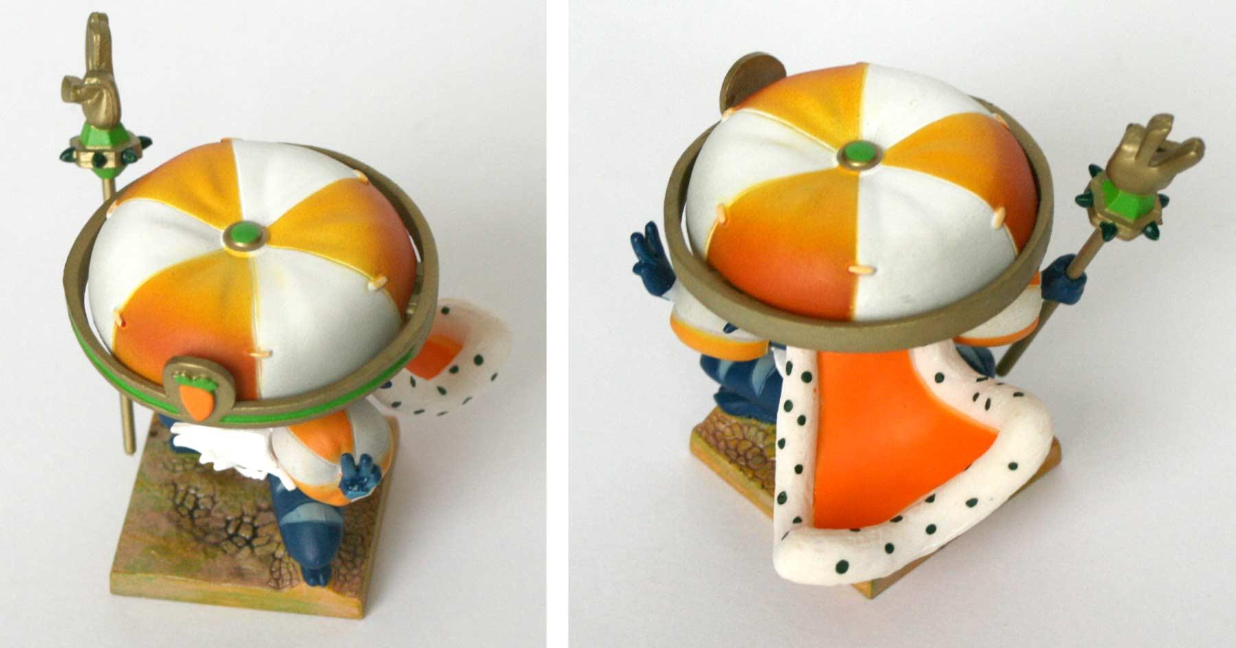 La peinture du chapeau du Wa Wabbit est en dégradé