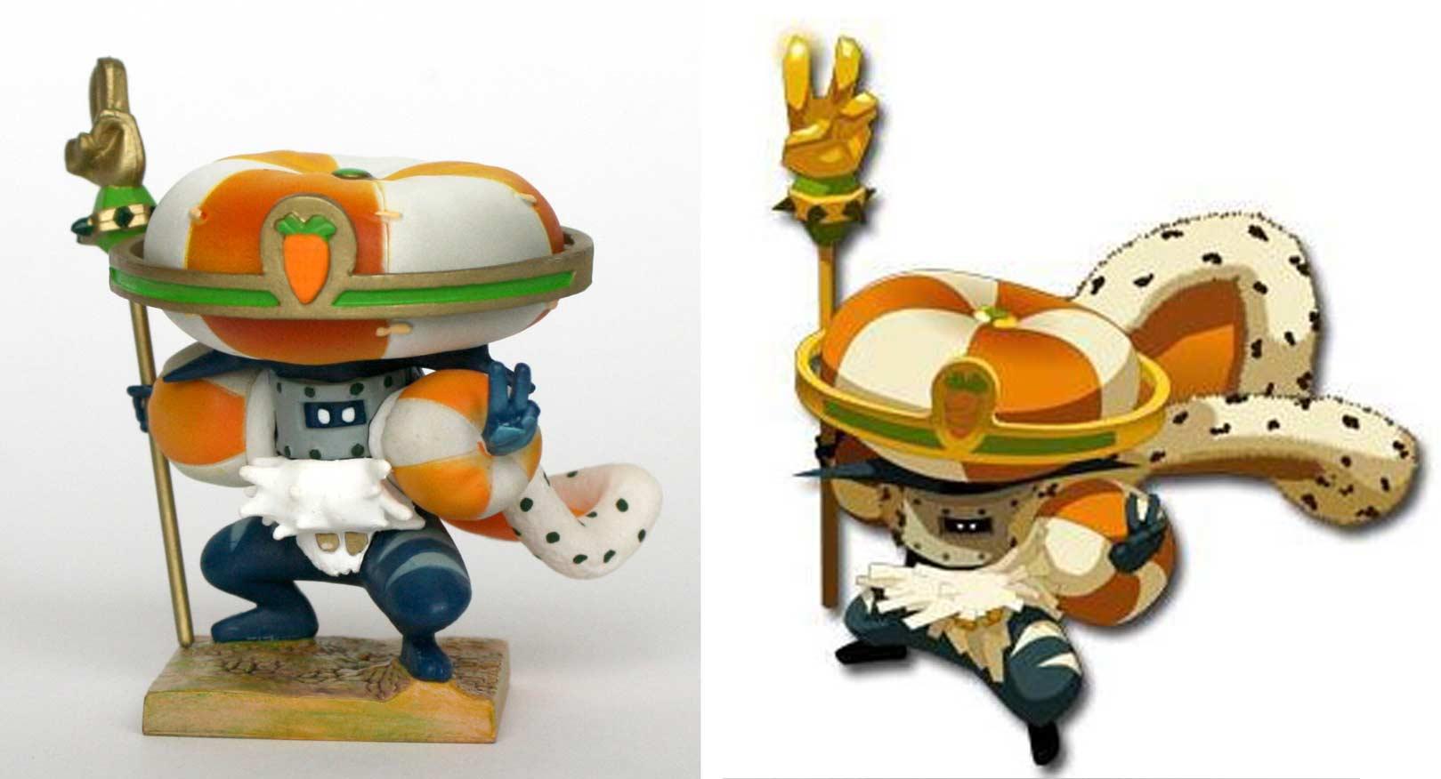 la figurine du Wa Wabbit est conforme à son modèle (Dofus - Wakfu)