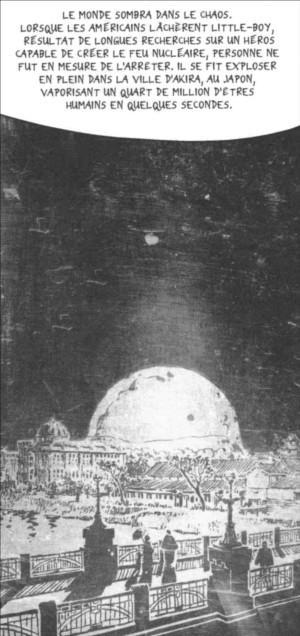 Référence à Akira et la bombe atomatique sur Hiroshima
