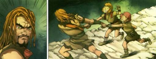 Le père de Maskemane et Bravor vient à leur secour