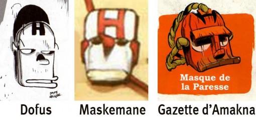 le Masque de la Paresse est inspiré du visage d'Homer Simpson