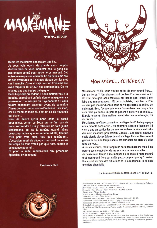 Comics Maskemane N°8 - Édito