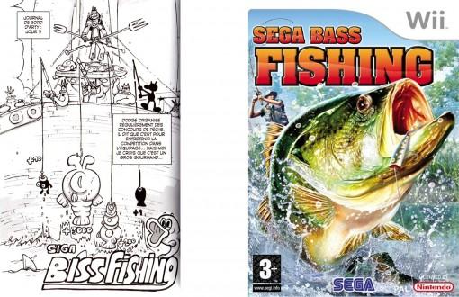 le titre Biss Fishing de Siga en allusion au jeu de pêche Bass Fishing de Sega