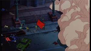 Emeute dans le film d'animation Akira