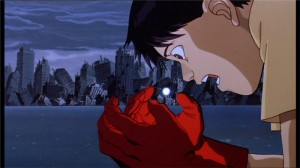Kaneda dit au-revoir à Tetsuo après le nouvelle explosion de Neo Tokyo