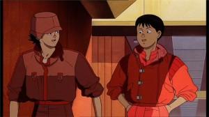 Kaneda drague Kai après l'avoir libérée de la police