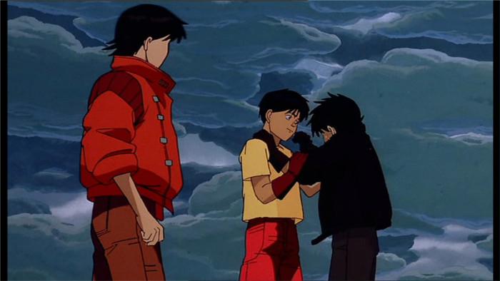 Kaneda, Kai et un de leur ami après l'explosion de Neo Tokyo