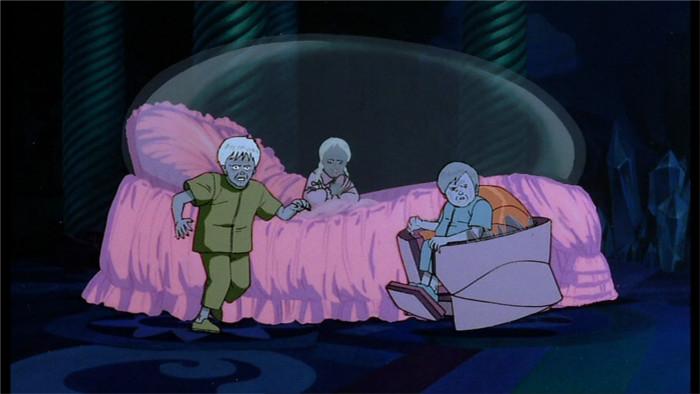 Takashi, Kyoko et Masaru 3 enfants aux visages âgés et avec des pouvoirs extra humains