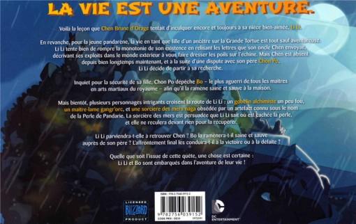 Quatrième de couverture de la BD Warcraft : Perle de Pandarie avec un résumé de l'histoire