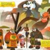 Exemple de croquis de la BD Warcraft : Perle de Pandarie avec Chen, Li Li et des pandarens