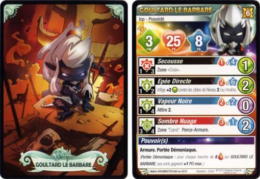 Carte de caractéristiques Krosmaster : Goultard le barbare possédé (Wakfu - Dofus)