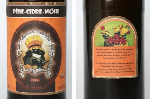 étiquettes du Père-Cidre-Möhl (Wakfu)